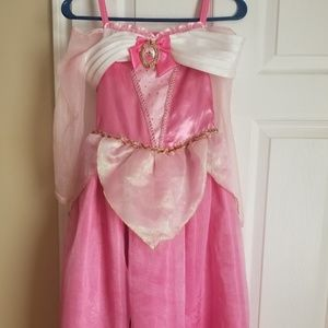 Disney Store Aurora costume and accessories